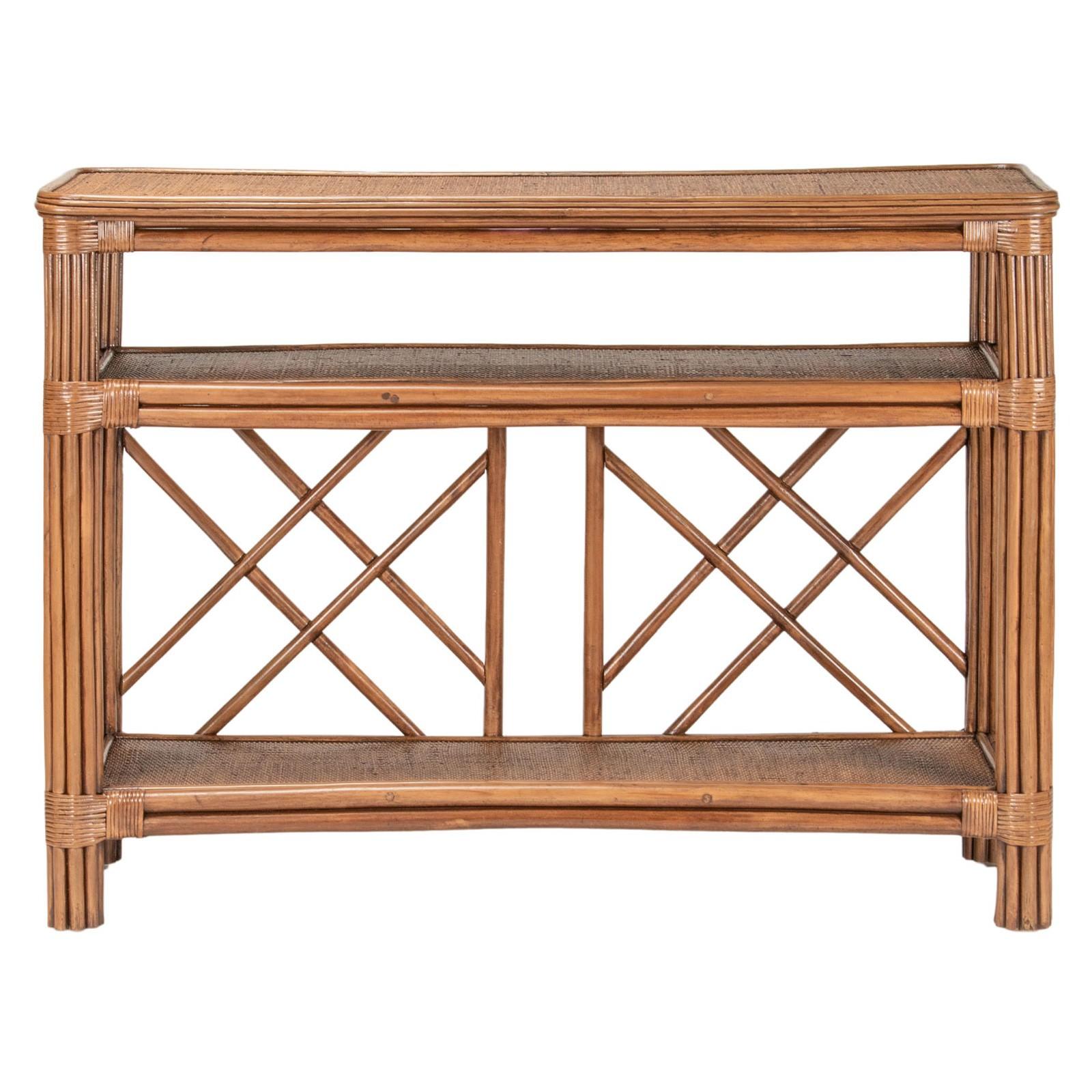 Montego Bay Rattan Hall Table, 120cm