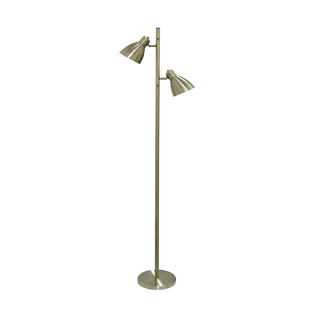 Torres Metal Floor Lamp, Antique Brass