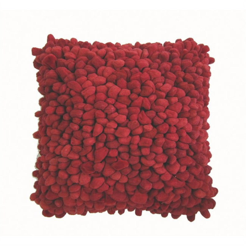 Pebble Cushion Red