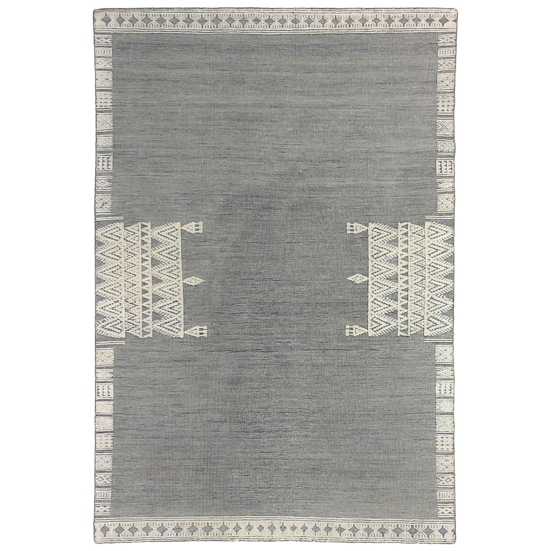 Nomadic Crown Hand Woven Wool Rug, 250x300cm, Grey