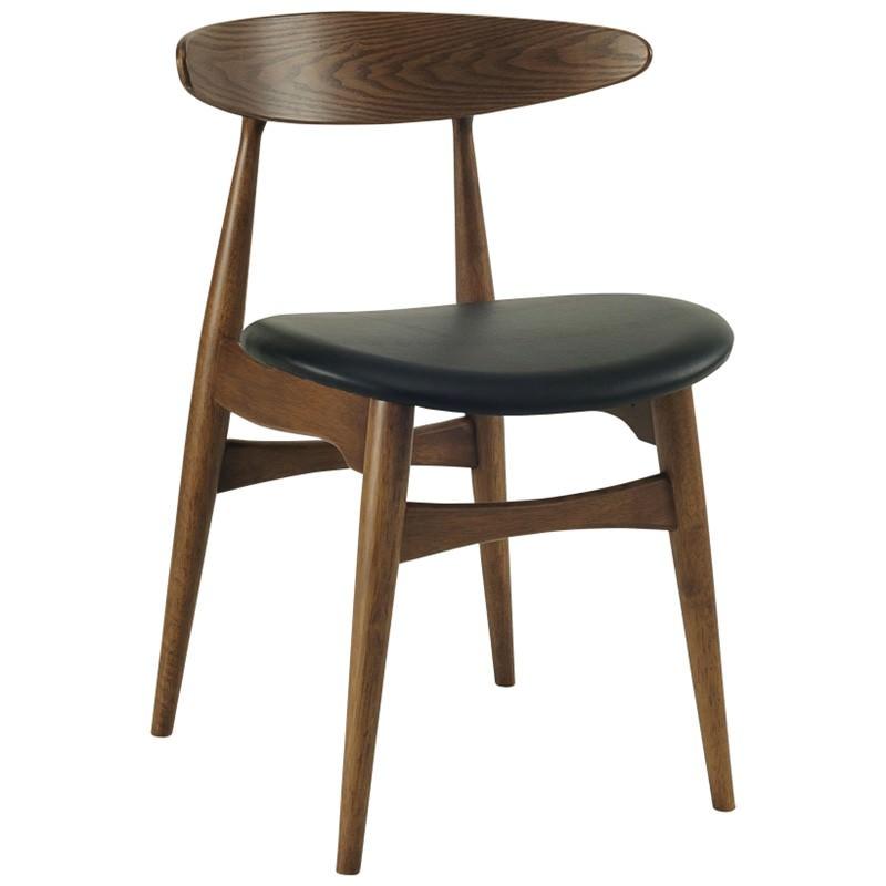 Tricia Oak Timber Dining Chair, Walnut / Espresso