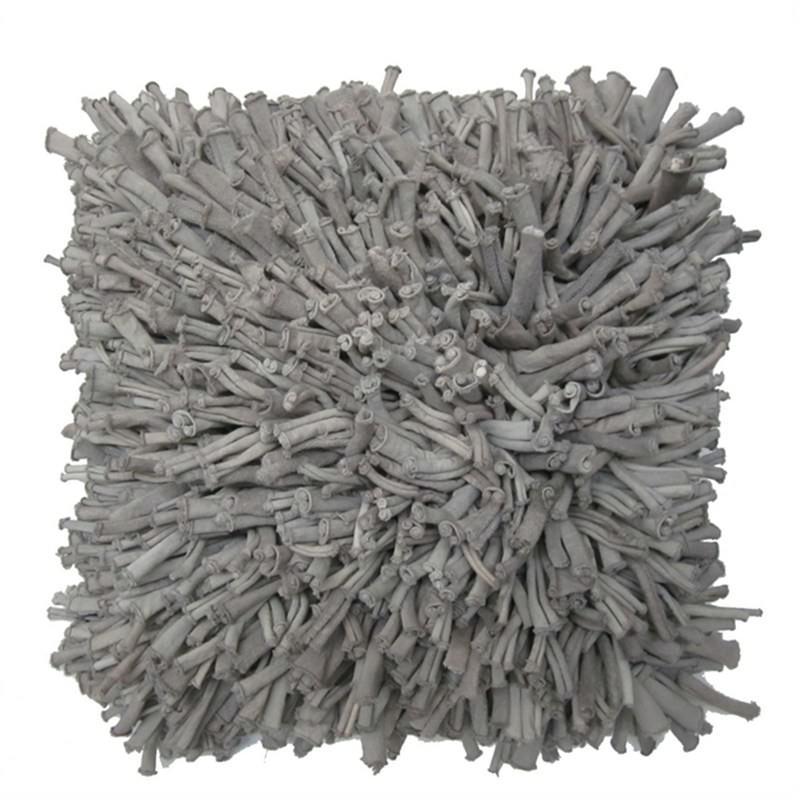 Shag Cushion Grey