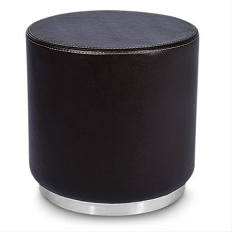 Amino Ottoman Round in Brown Commercial Grade