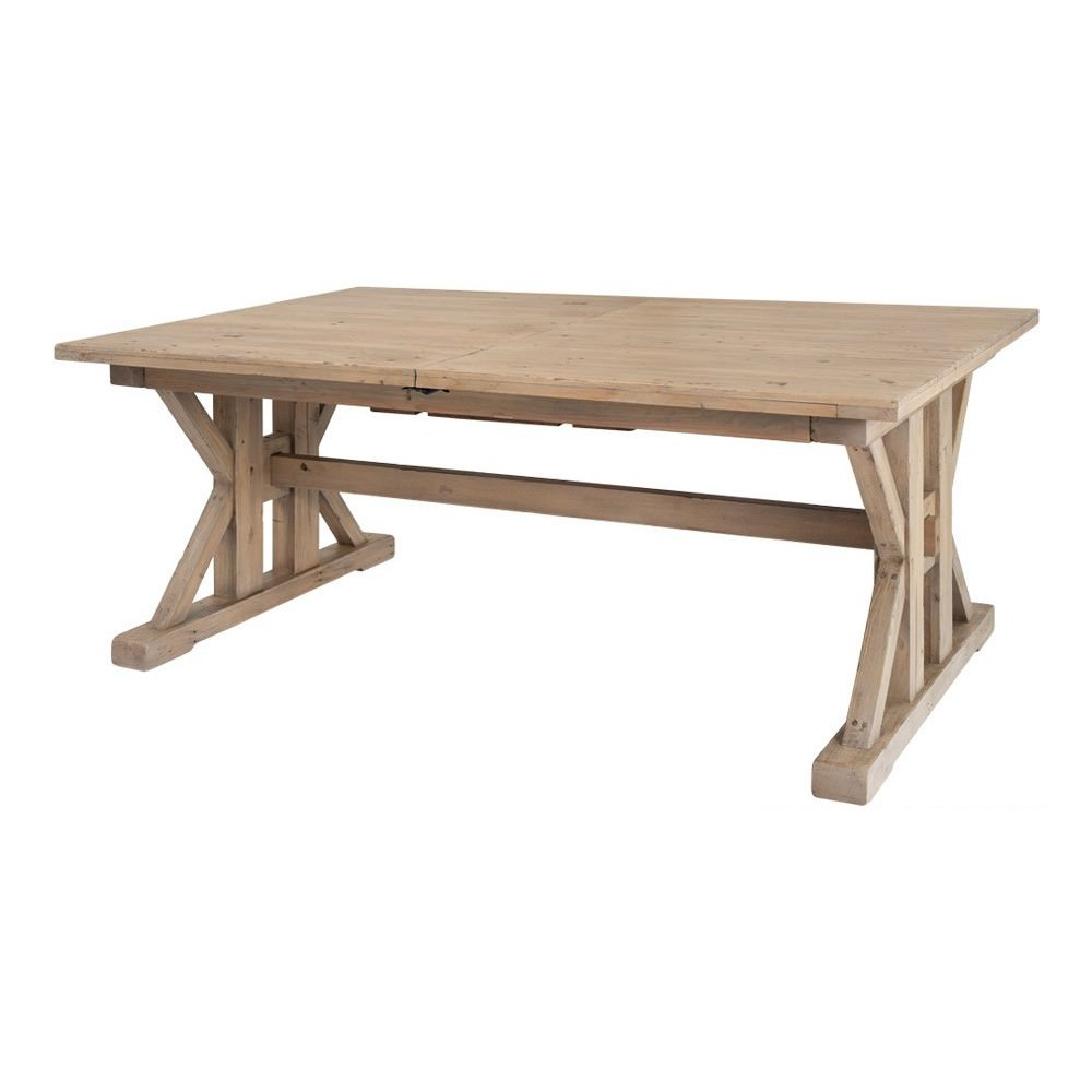 Tuscanspring Reclaimed Timber Trestle Extension Dining Table, 183-244cm