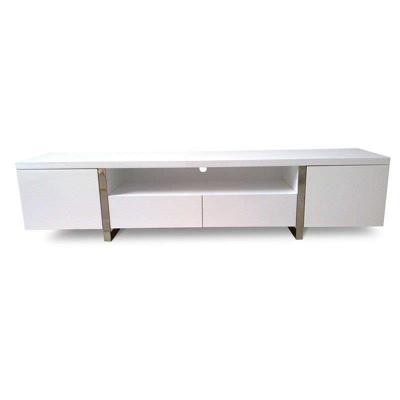 New York Lowline Tv Unit - High Gloss White