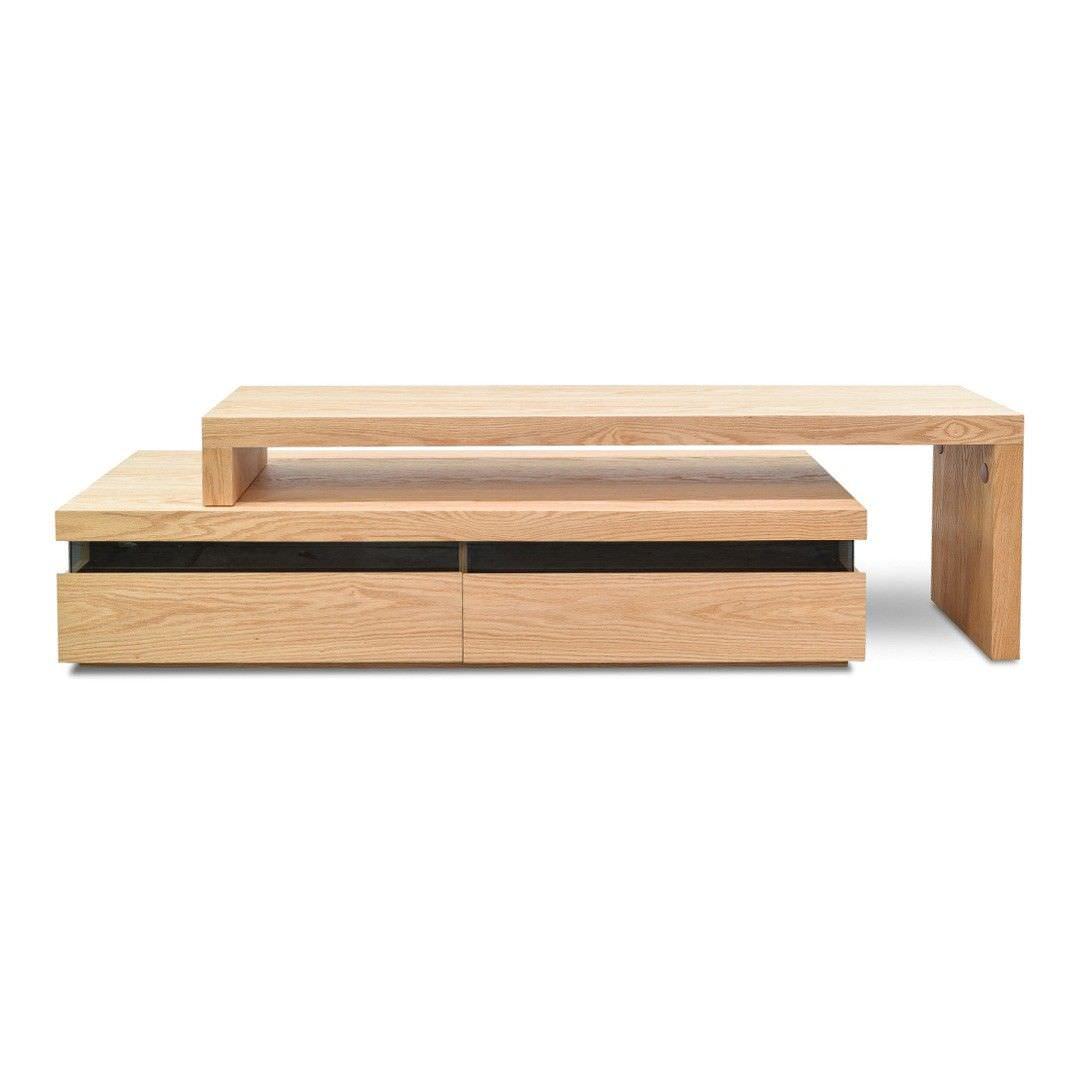 Mare Wooden Extendible TV Unit, 170-280cm, Natural