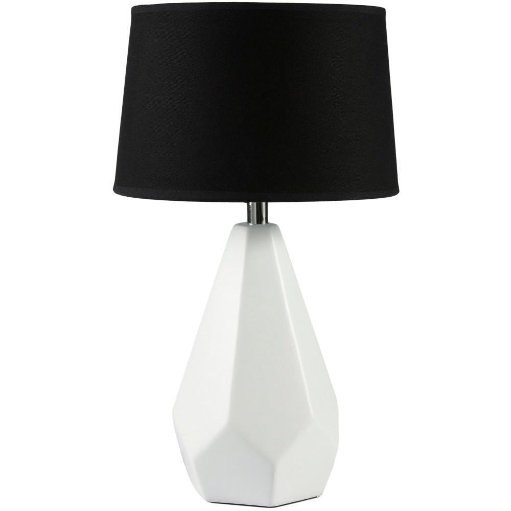 Ora Ceramic Base Table Lamp, Whtie / Black