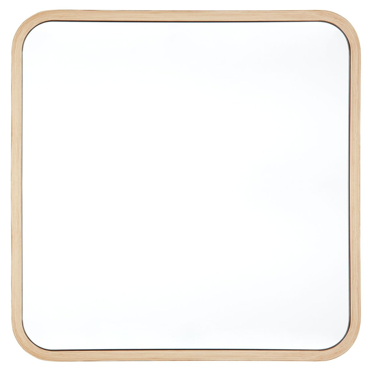Noho Wooden Frame Square Wall Mirror, 50cm