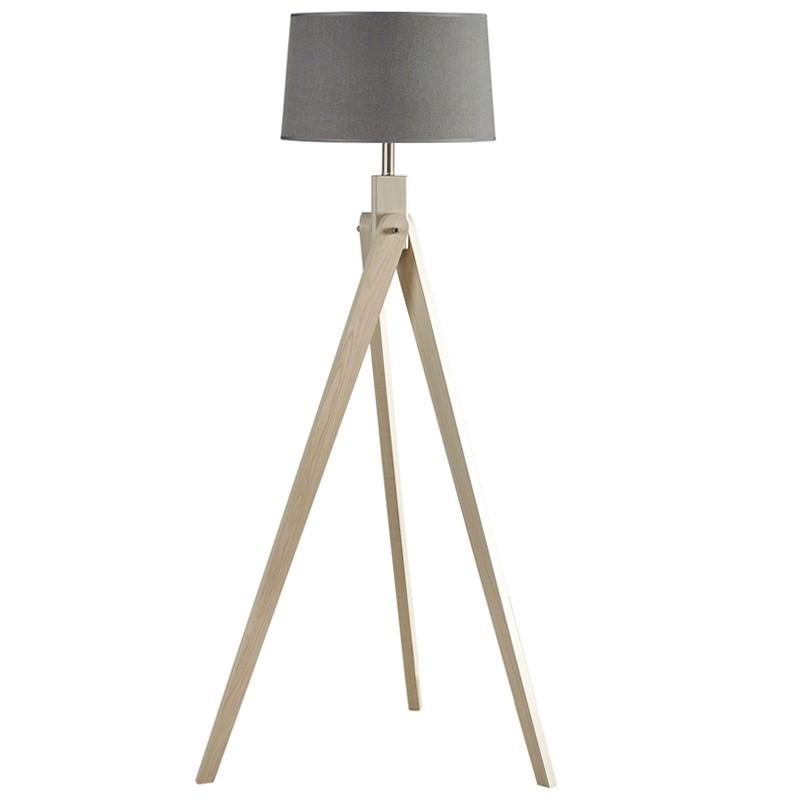 Inigo Tripod Floor Lamp, Natural / Charcoal
