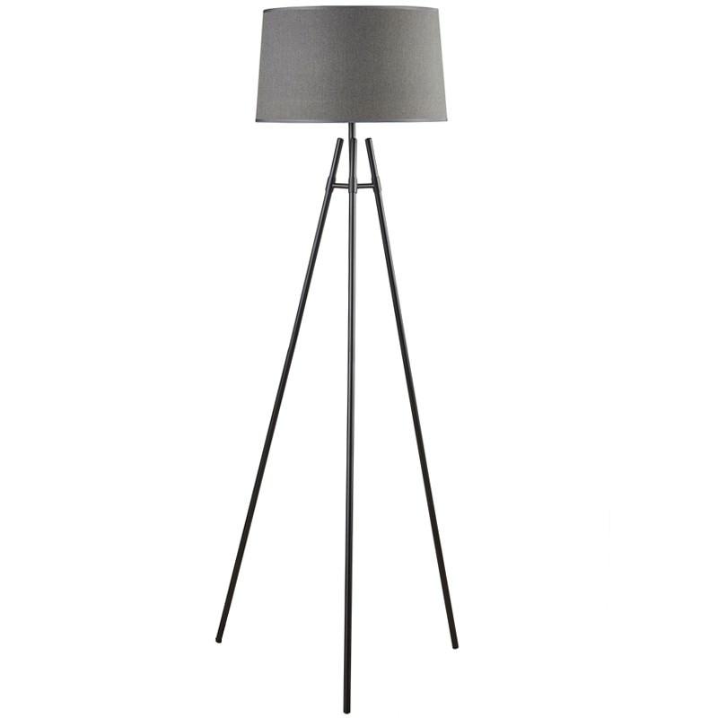 Delphi Metal Tripod  Floor Lamp, Black / Charcoal