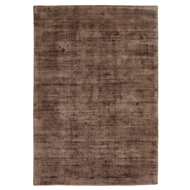 Luxe Hand Loomed Distressed Modern Rug in Brown  - 320x230cm