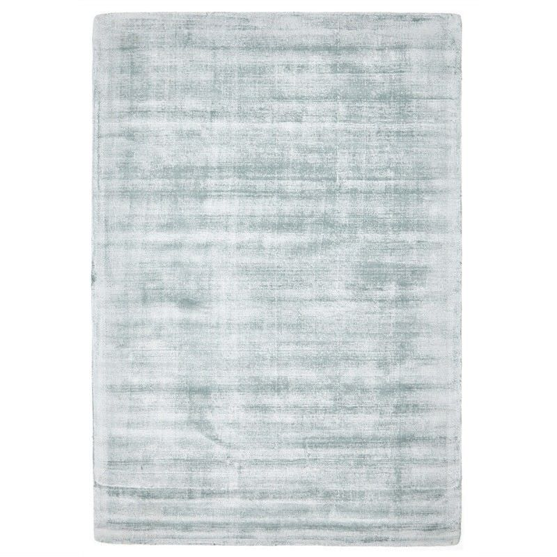Luxe Hand Loomed Distressed Modern Rug in Sky Blue  - 225x155cm