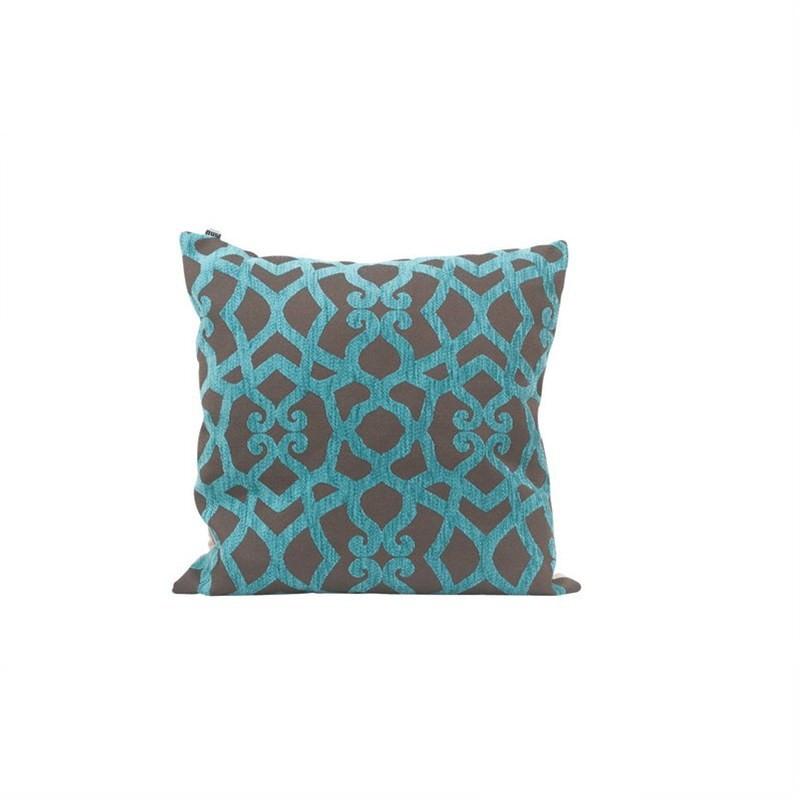 Warwick Lattice Cushion Turquoise