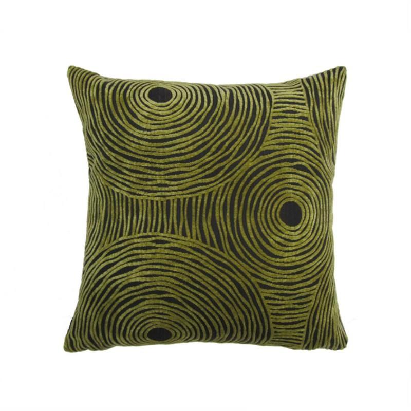 Warwick Swirl Cushion Lime