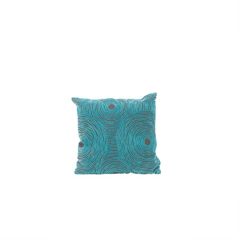 Warwick Swirl Cushion Turquoise