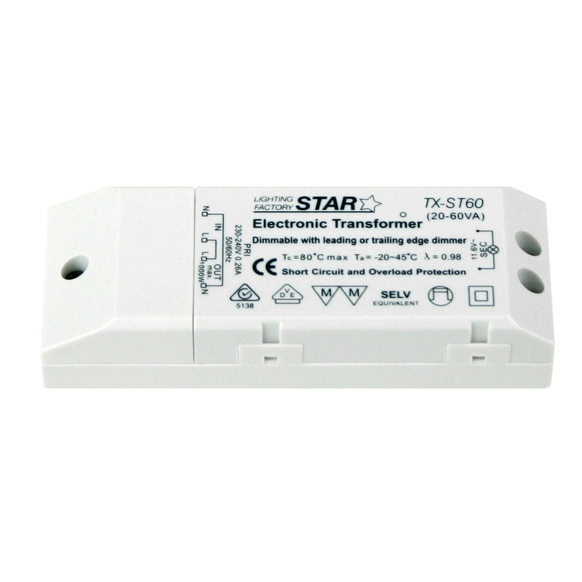 Star Electronic Transformer, 60W