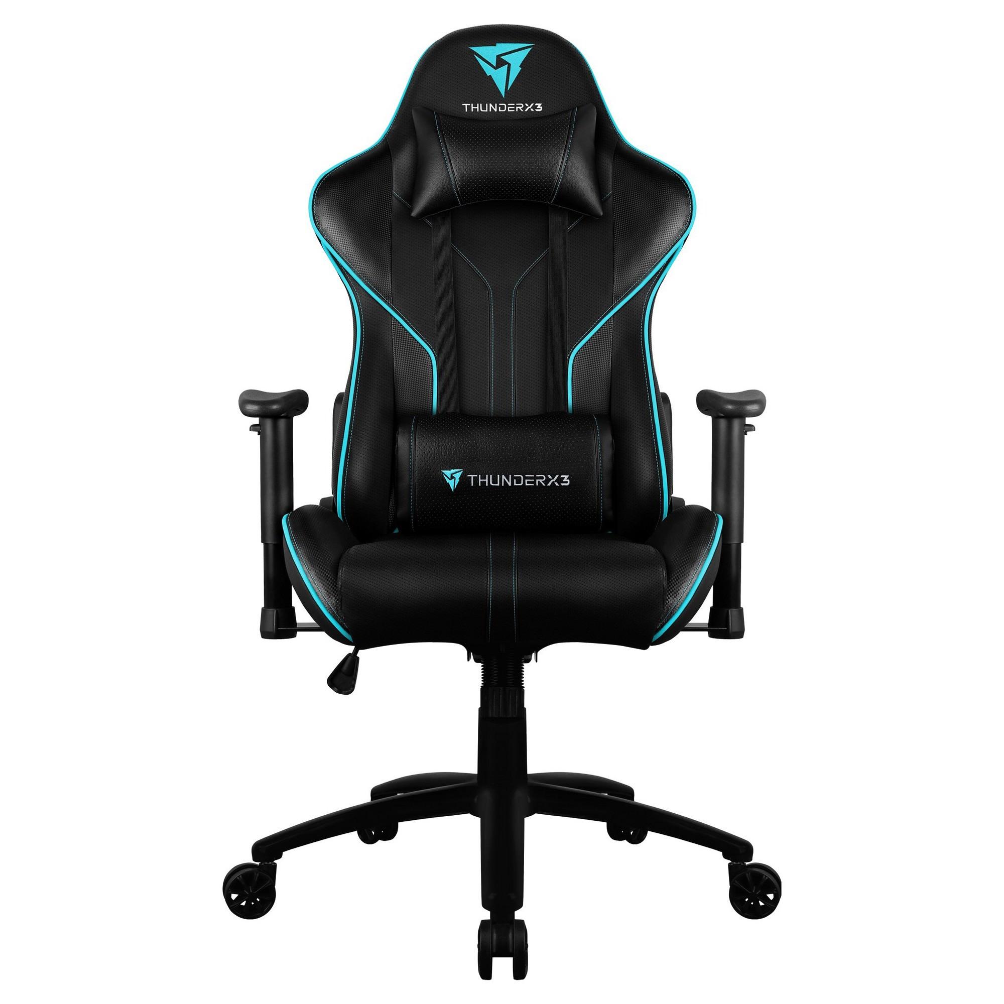 ThunderX3 RC3 HEX RGB Lighting Gaming Chair, Black / Cyan