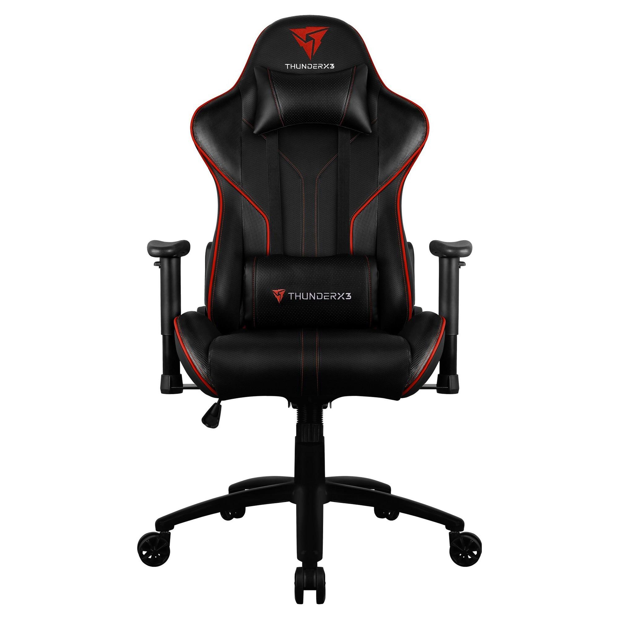 ThunderX3 RC3 HEX RGB Lighting Gaming Chair, Black / Red