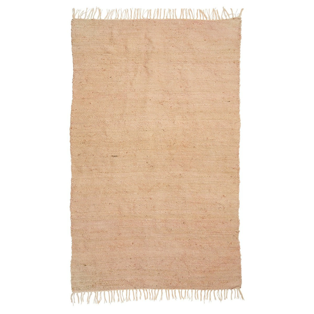 Nightscape Jute & Leather Rug, 120x180cm, Pink