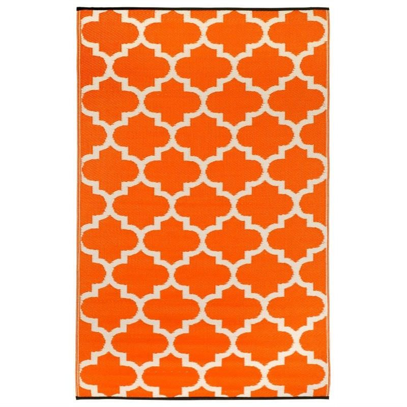 Tangier Carrot and White Outdoor Rug - 180x270cm
