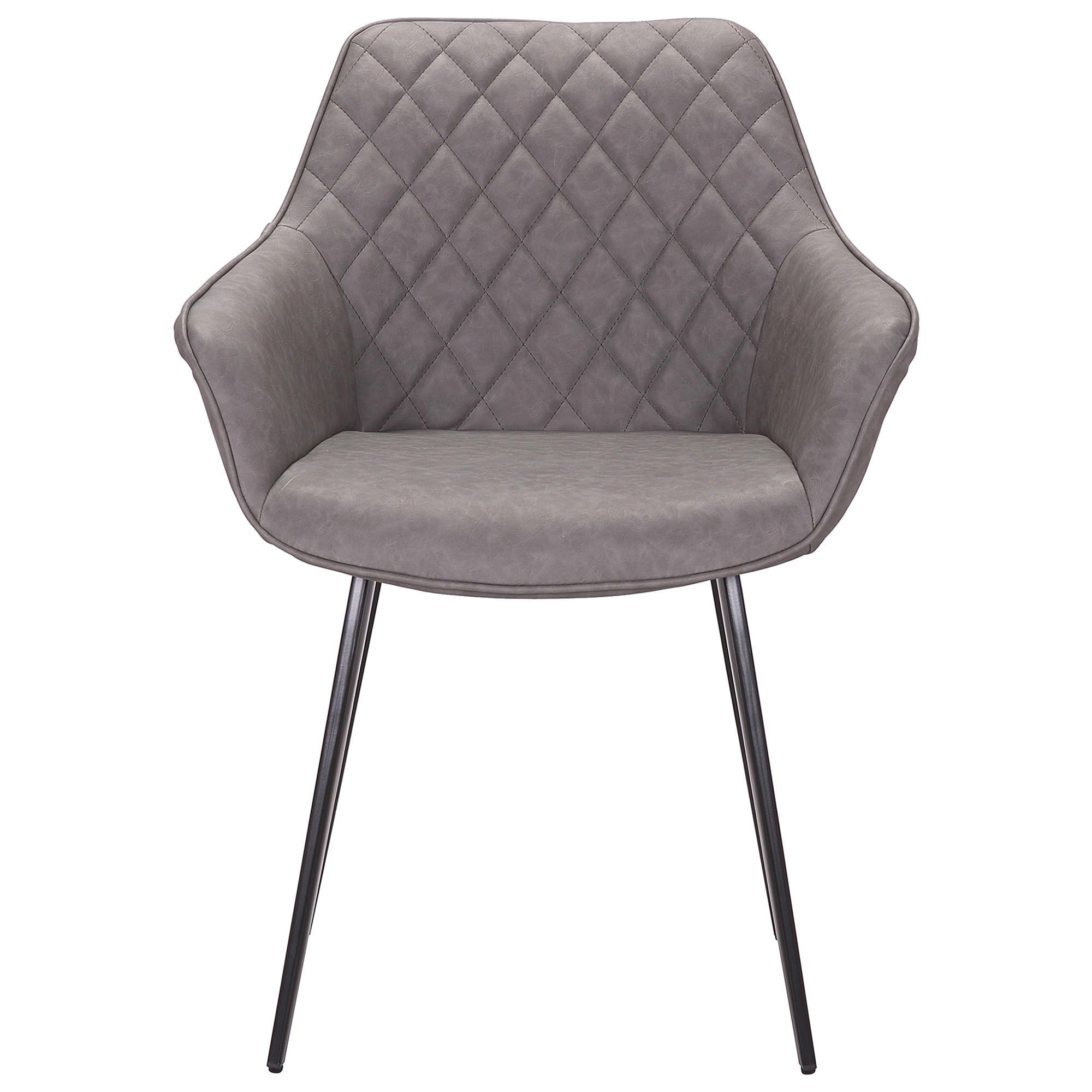 Toulouse Commercial Grade Faux Leather Dining Armchair, Grey