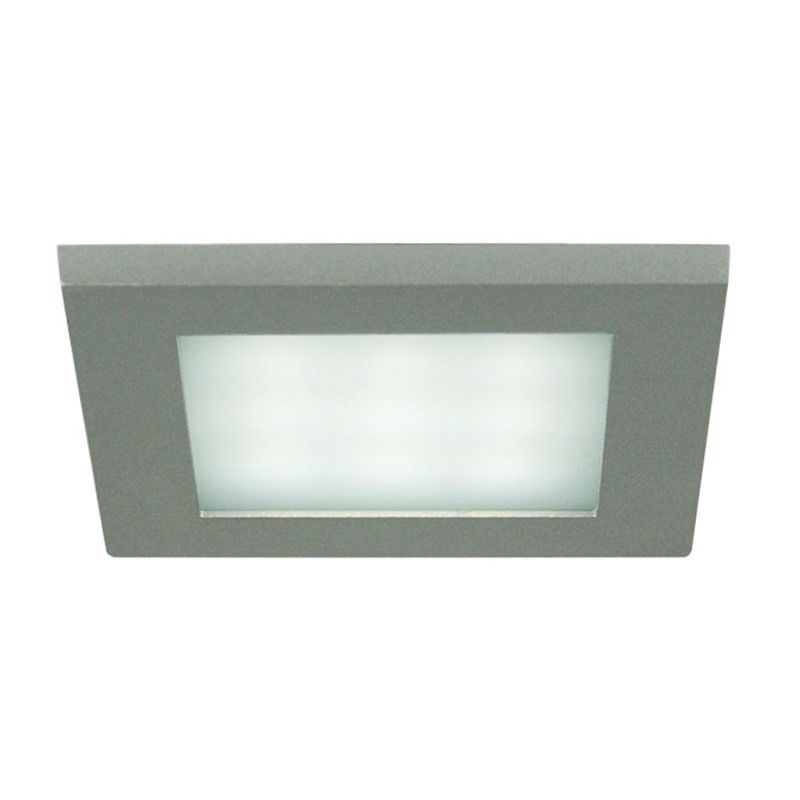 Dias Recessed 3000K LED Wall Light - Silver (Oriel Lighting)