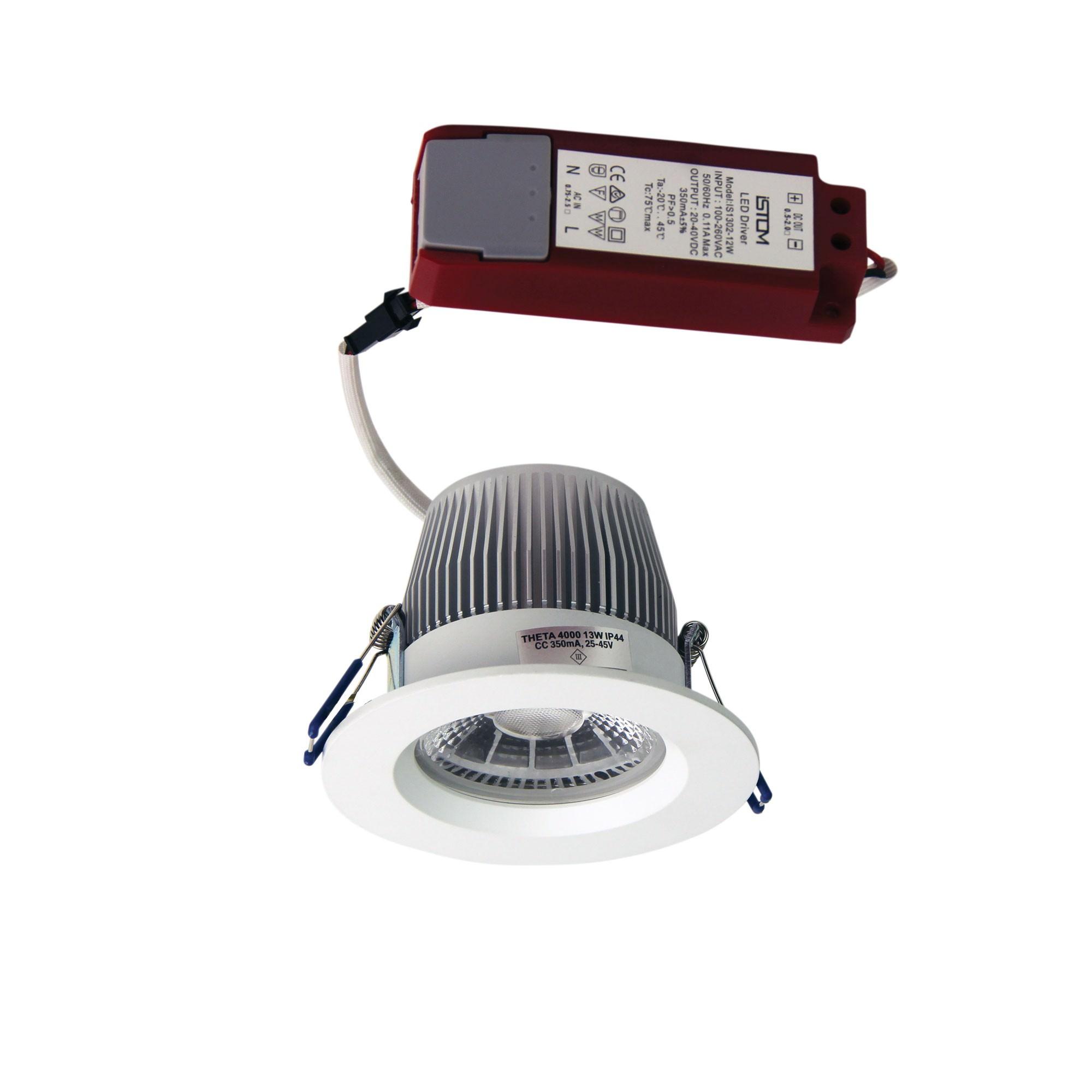 Theta IP44 Indoor / Outdoor LED Downlight, 4000K, White