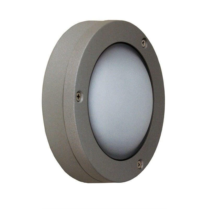 Circo IP44 LED Plain Outdoor 2.9w Wall Light - Silver (Oriel Lighting)