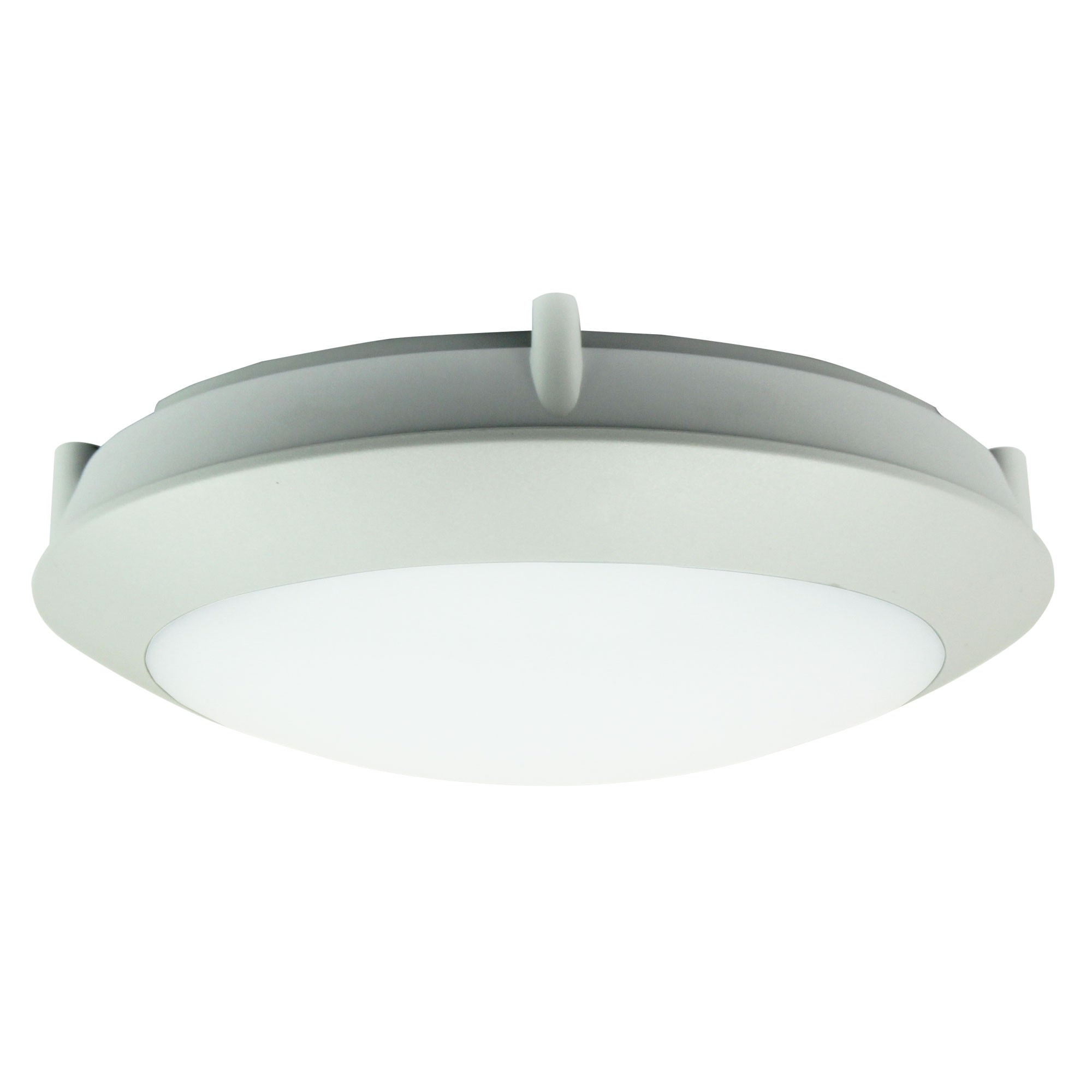 Duro IP66 Exterior LED Oyster Light, 20cm, Round, Grey
