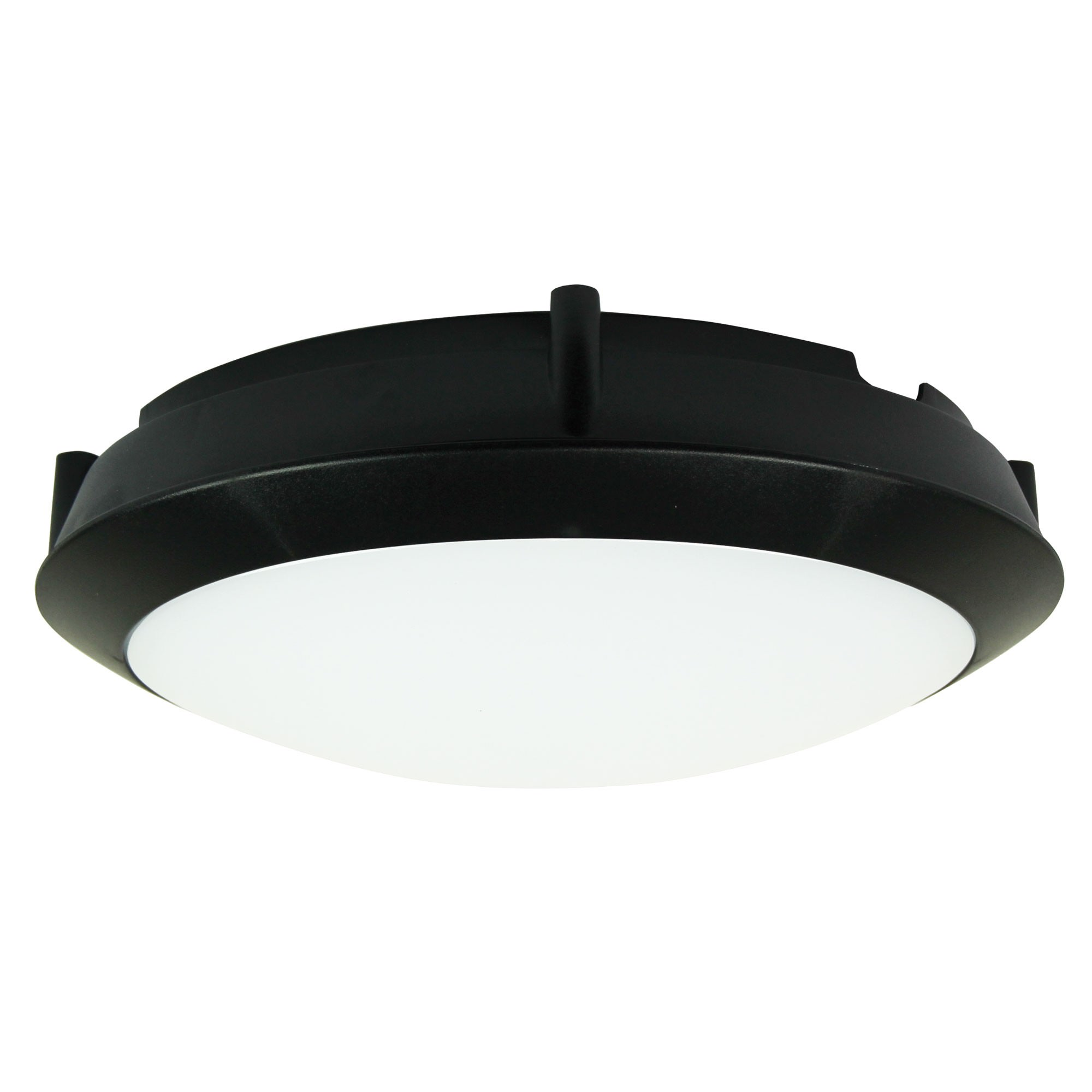 Duro IP66 Exterior LED Oyster Light, 30cm, Round, Black