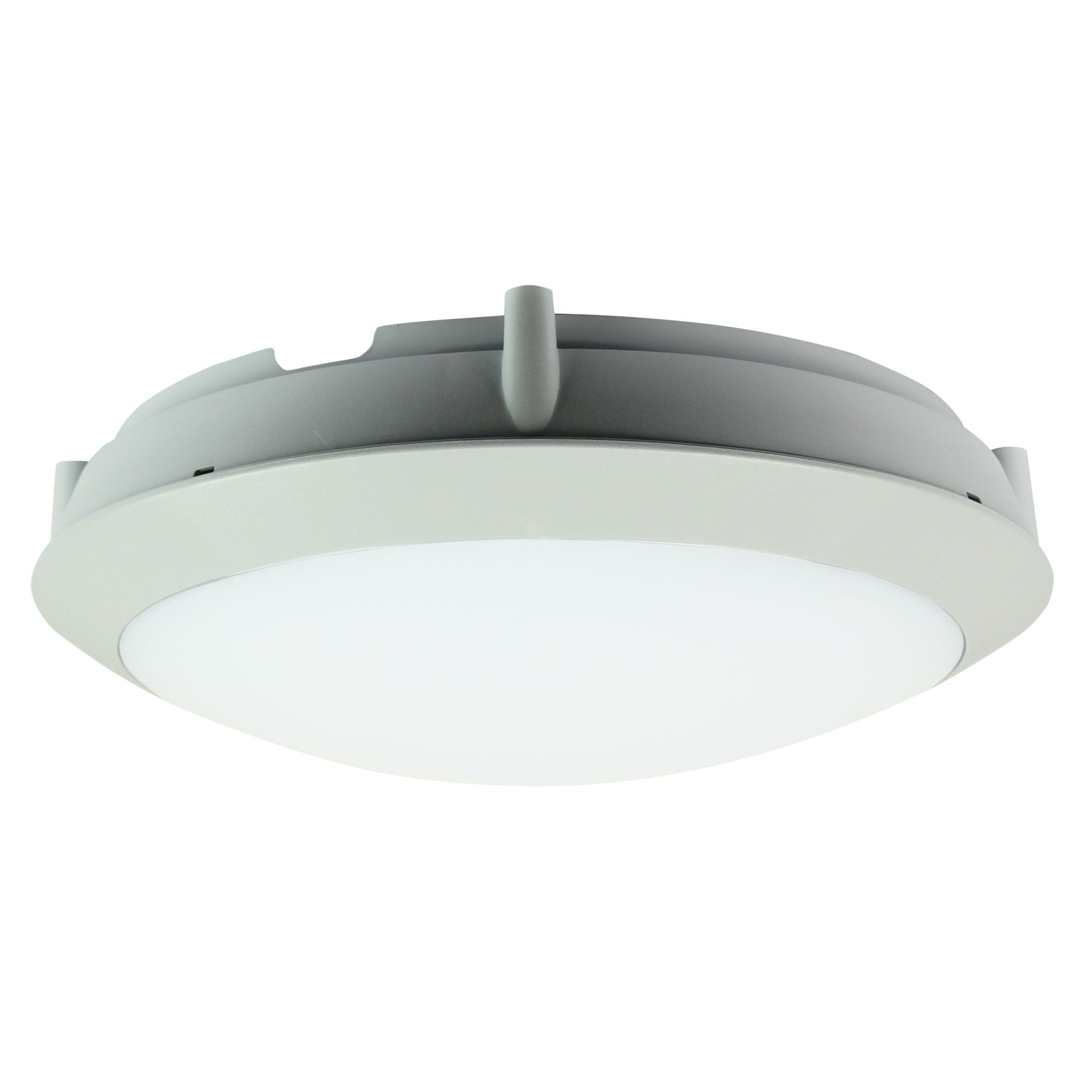 Duro IP66 Exterior LED Oyster Light, 30cm, Round, Grey