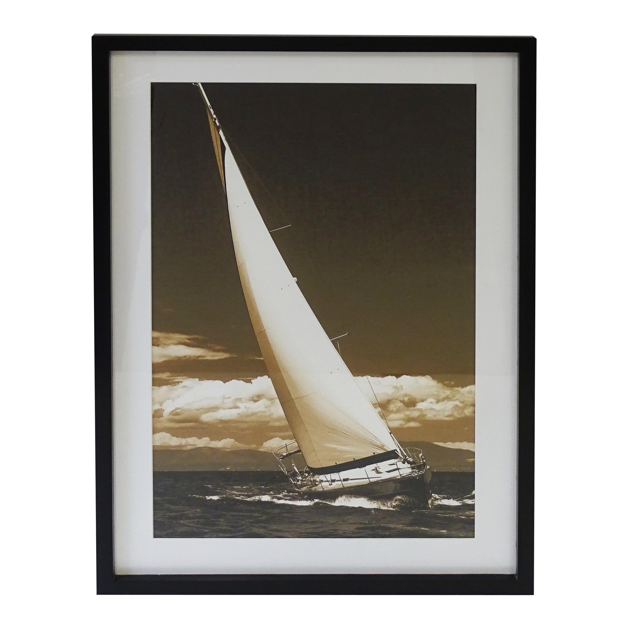 Newport Pine Timber Framed Wall Art Print, 90cm