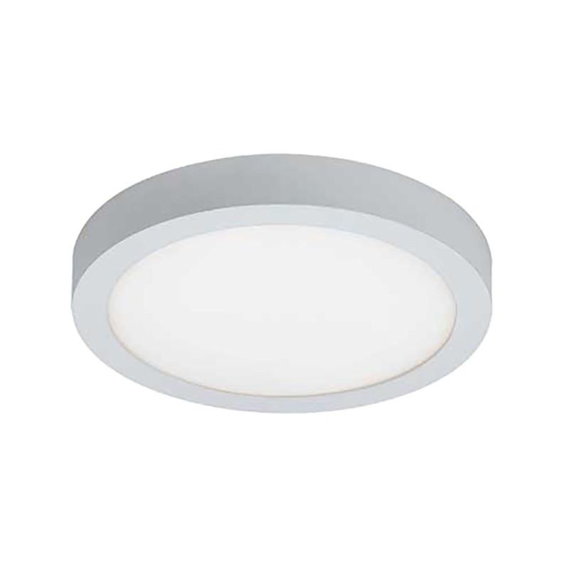 Unos LED Oyster Ceiling Light, 3000K, Round, White