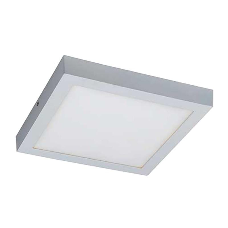 Unos LED Oyster Ceiling Light, 3000K, Square, White