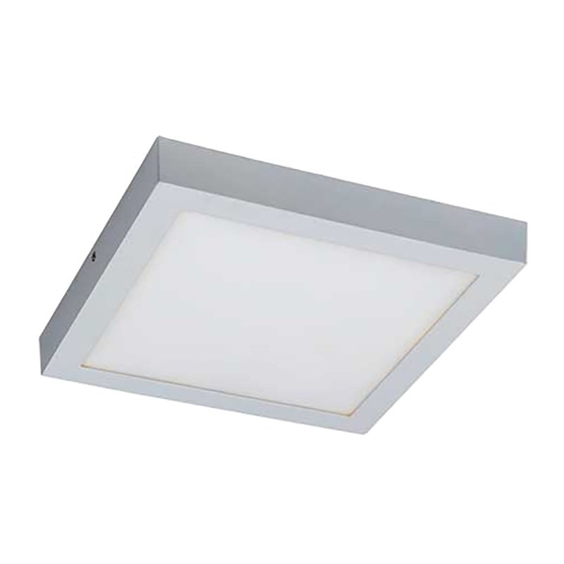 Unos LED Oyster Ceiling Light, 5000K, Square, White