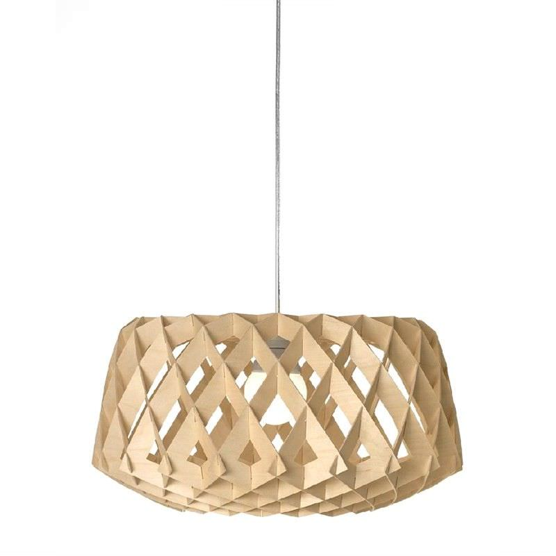 Replica Tuukka Halonen Pilke Wide Wooden Pendant Light, Natural