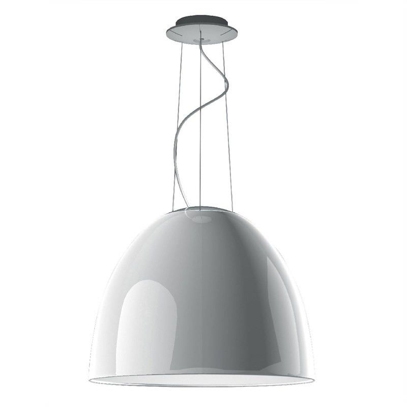 Replica Artemide Nur Gloss White Pendant Light - Large