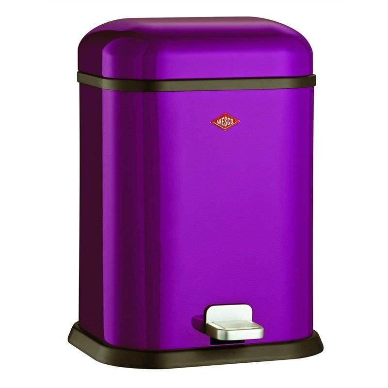 Wesco Single Boy Steel 13L Disposal Bin - Lilac