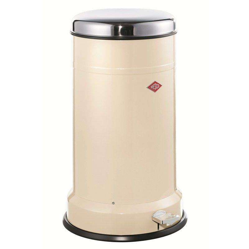 Wesco Classic Boy Steel 22L Disposal Bin - Almond