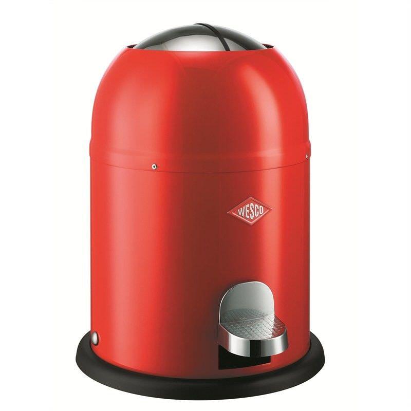 Wesco Single Master Steel 9L Disposal Bin - Red
