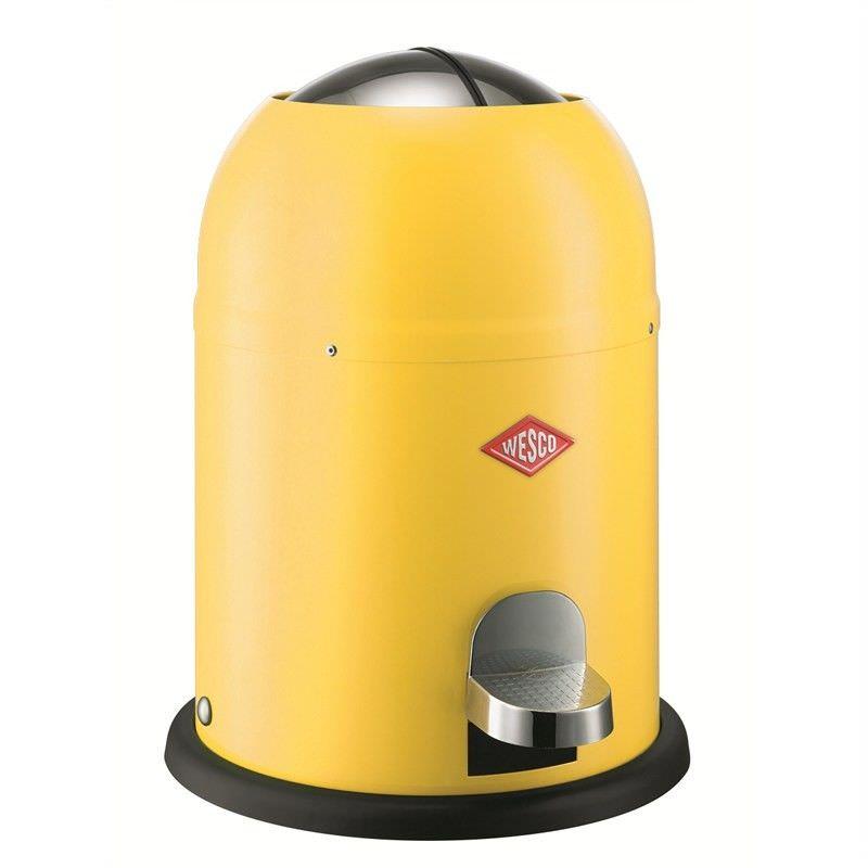 Wesco Single Master Steel 9L Disposal Bin - Lemon Yellow
