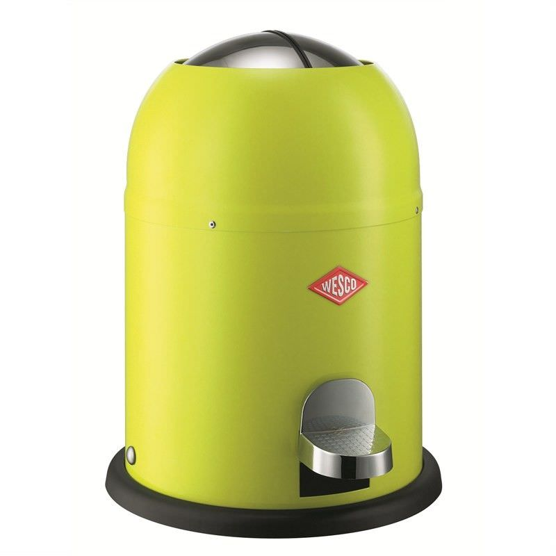 Wesco Single Master Steel 9L Disposal Bin - Lime Green