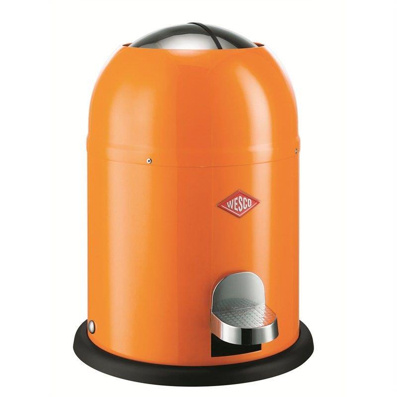 Wesco Single Master Steel 9L Disposal Bin - Orange