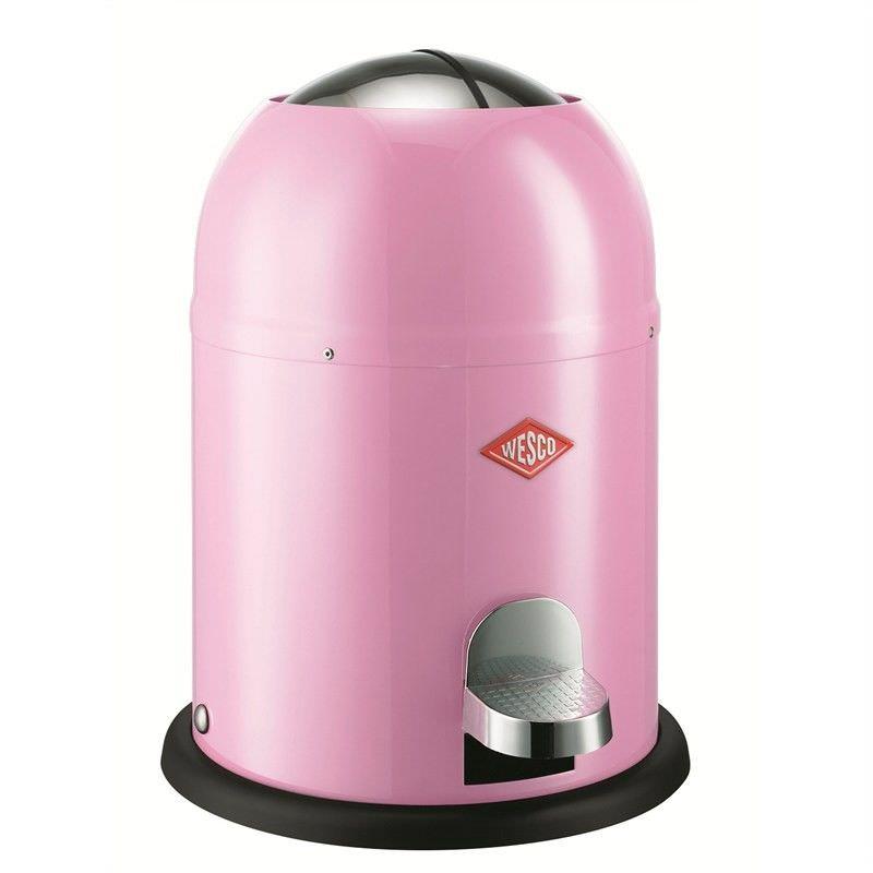 Wesco Single Master Steel 9L Disposal Bin - Pink