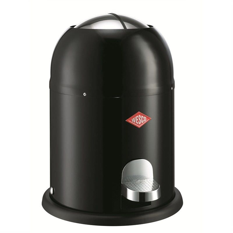 Wesco Single Master Steel 9L Disposal Bin - Black