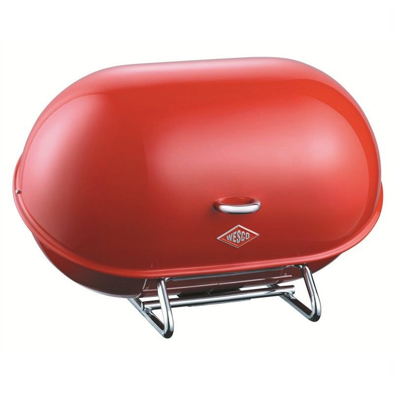 Wesco Single Breadboy Steel Bread Bin - Red