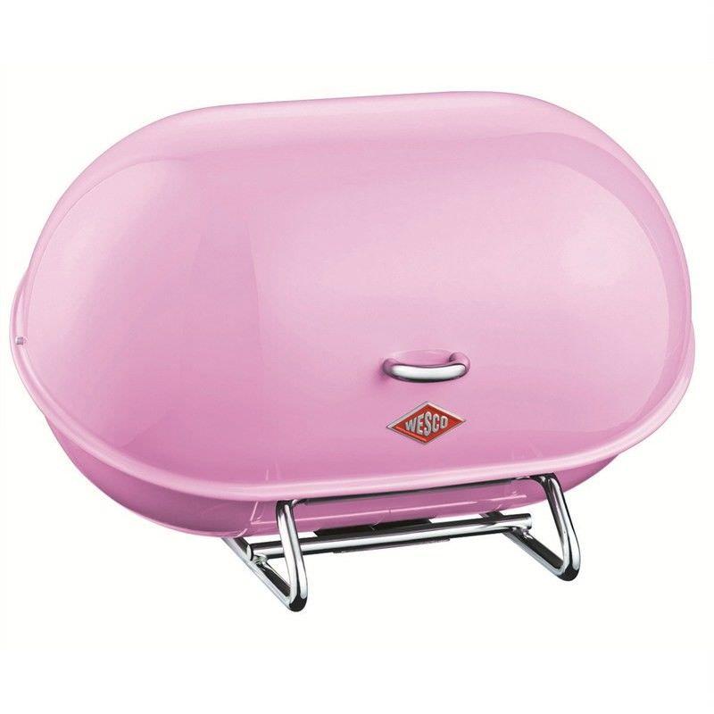 Wesco Single Breadboy Steel Bread Bin - Pink