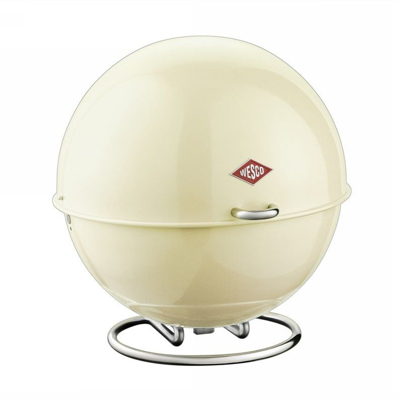 Wesco Superball Steel Storage Container - Almond