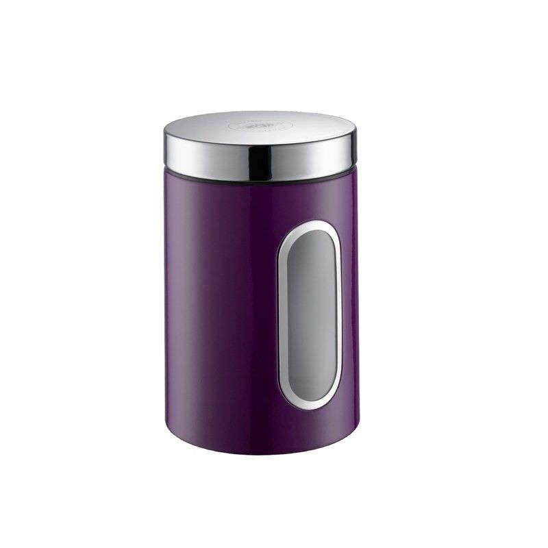 Wesco Stainless Steel 2L Storage Canister with Window - Lilac