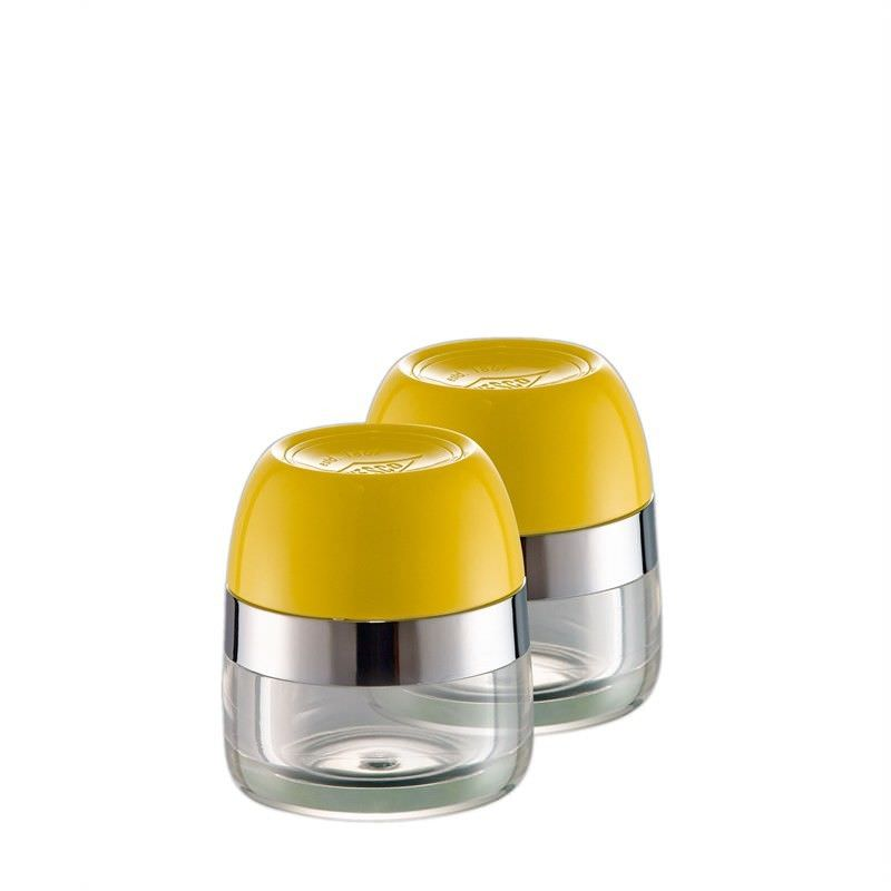 Set of 2 Wesco Spice Storage Canister - Lemon Yellow